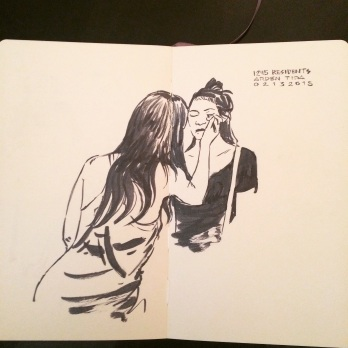 Drawing by Tida's housemate Jonathan Ventura